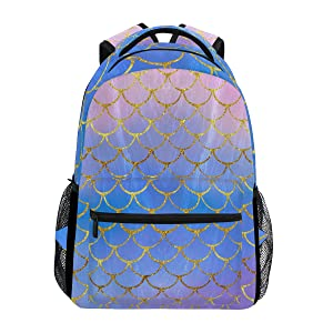 Purple mermaid backpack