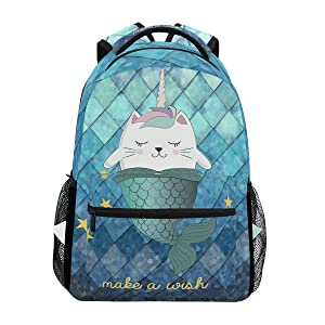 unicorn mermaid backpack