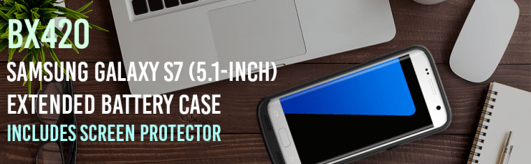 alpatronix bx420 ul-certified internal battery 4500mah charging case for samsung galaxy s7
