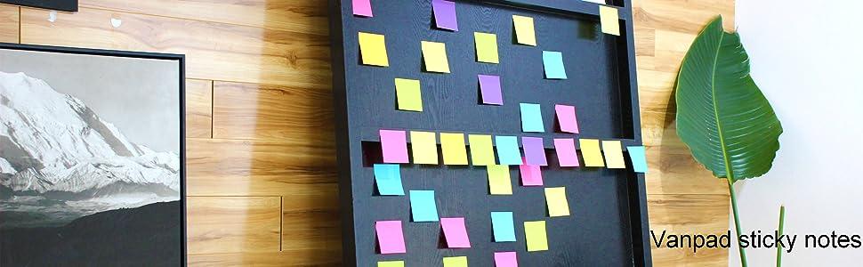 Vanpad sticky notes
