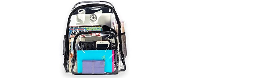 see through clear pvc stadium tsa approved backpack