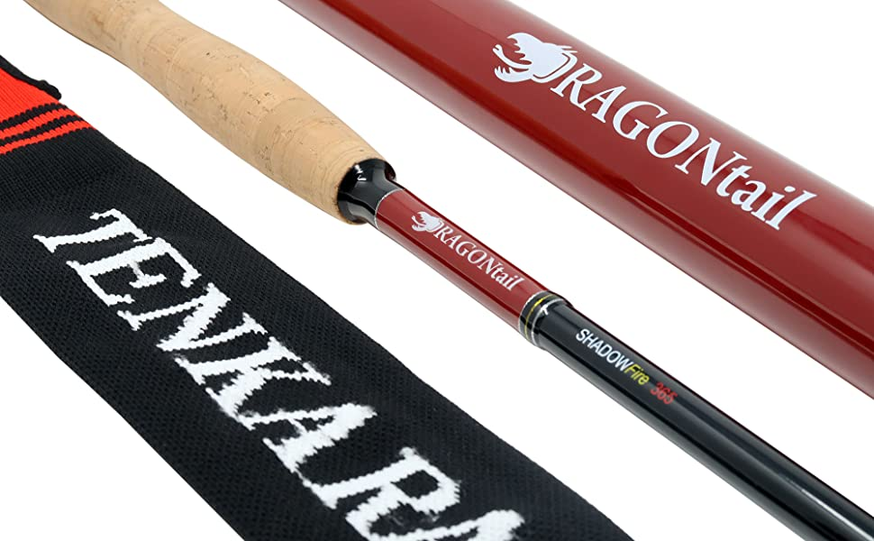 DRAGOntail Shadowfire Rod with case and sock