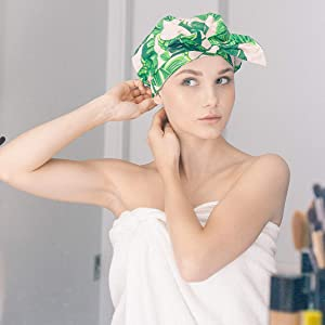 hair mask protect shower hat satin cap