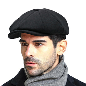 Octagonal newsboy hat for winter spring