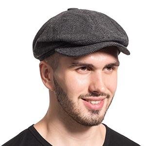 Gatsby newsboy Octagonal hat