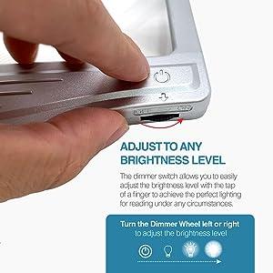 adjustable brightness level