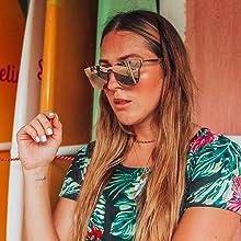 flat lens reflective square sunglasses for women trendy new