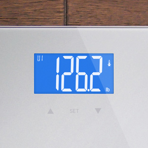 Digital Body Fat Scale, GreaterGoods, (2019 Update) Accurate Health Metrics, Body Composition (Grey)