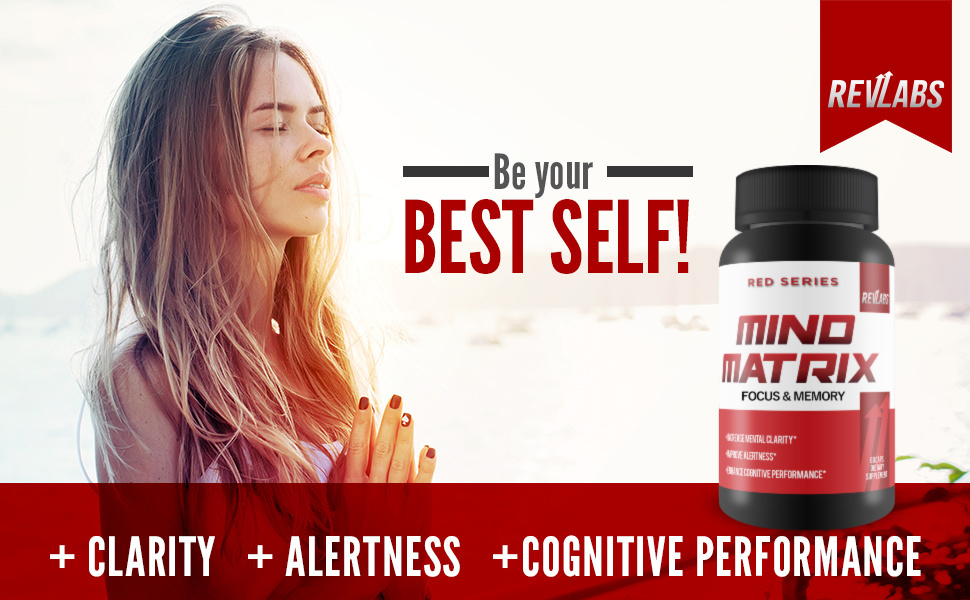 revlabs, nootropic, focus, memory, mind matrix, clarity, alertness, cognitive performance, brain