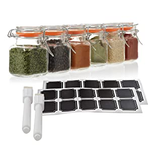 clear glass spice containers airtight glass spice jars mini cliptop bottles glass storage containers