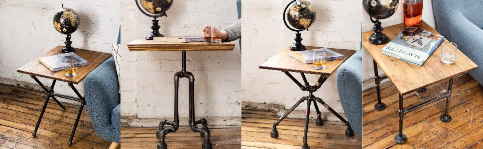Pipe Decor End Tables