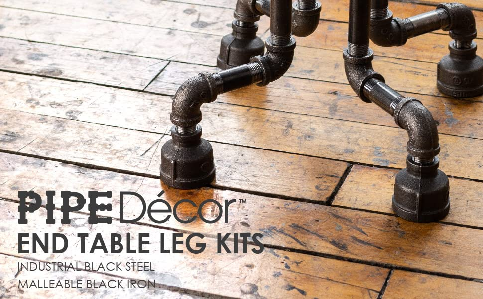 Pipe Decor Table Legs End Table Kits