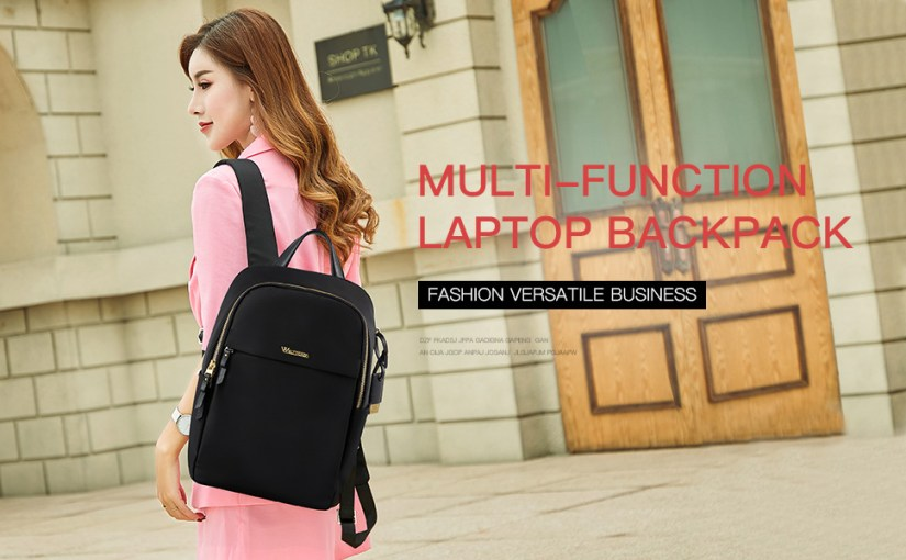 Wolfrealm Laptop Backpack 14 Inch Computer Bag for Women Fashion Business Backpack Purse Lightweight