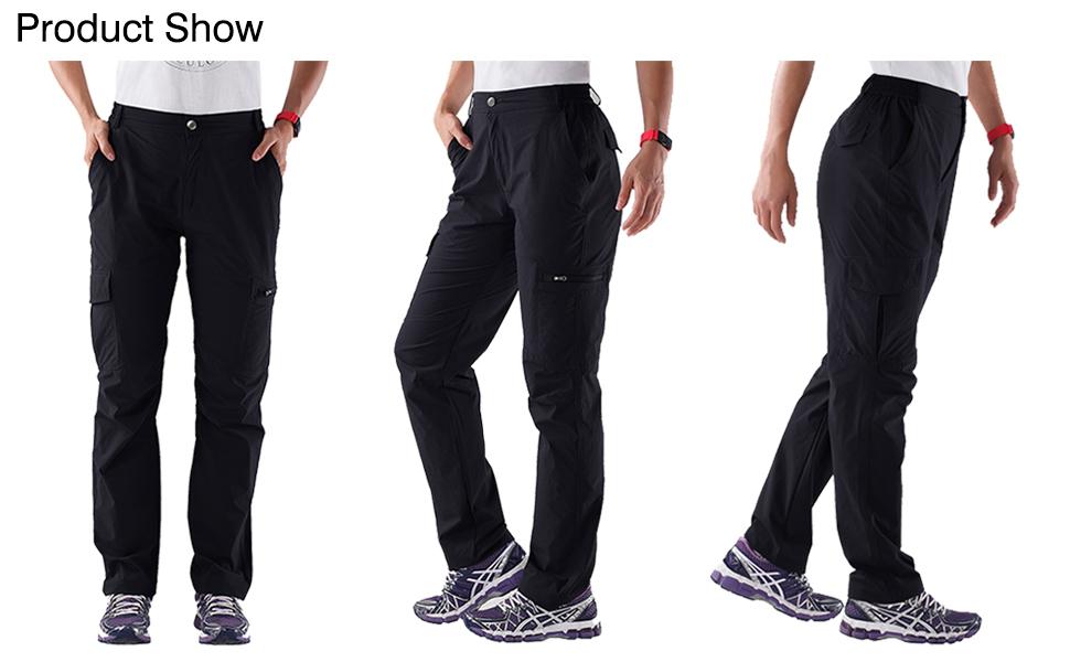 Nonwe Women's Outdoor Water-Resistant Quick Drying Lightweight Cargo Pants 11