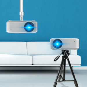 Easy to be mounted on a Tripod or on the Ceiling
