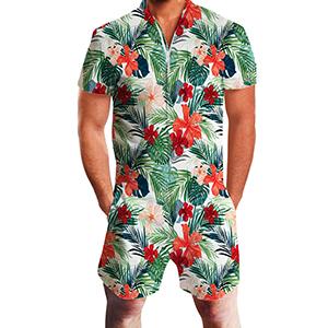 floral romper for men