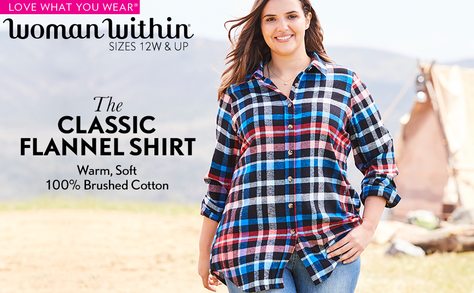 classic flannel shirt warm soft 100% brushed cotton