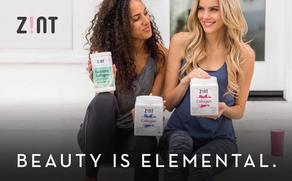 zint beauty collagen powder collagen peptides protein