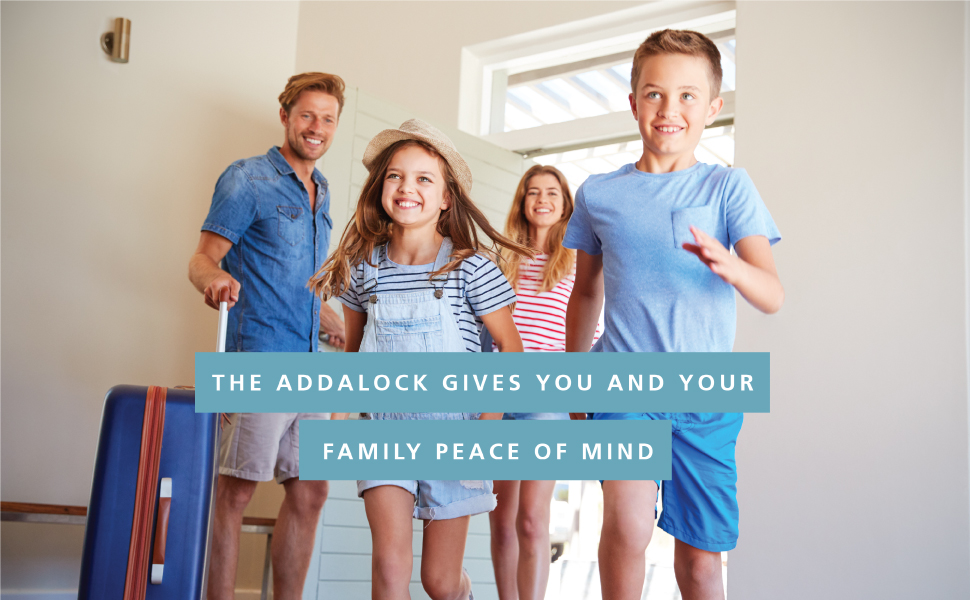 Addalock gives you and your family peace of mind with additional security for your home and doorlock