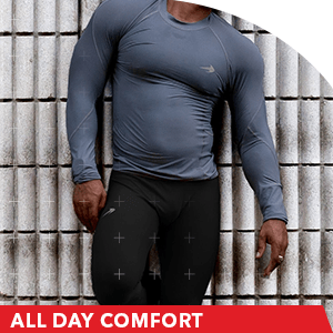 comfortable compression pants men