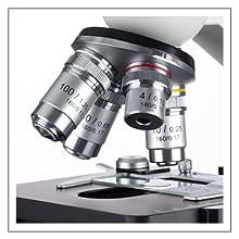 40X ila 2000X arasında sekiz seviyeli büyütmeye sahip OMAX bileşik biyolojik mikroskop