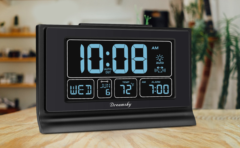 auto set large alarm clock