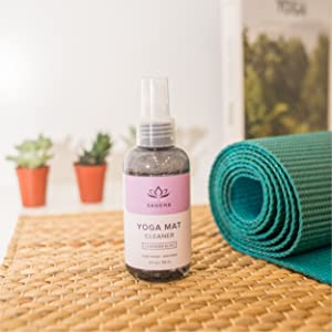 Saucha, Yoga, Mat, Cleaner, Spray, Lavender, Cloth