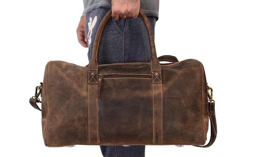 leather duffel bag gym bag sports bag