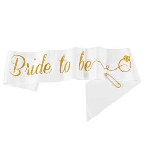 Bachelorette sash with pin