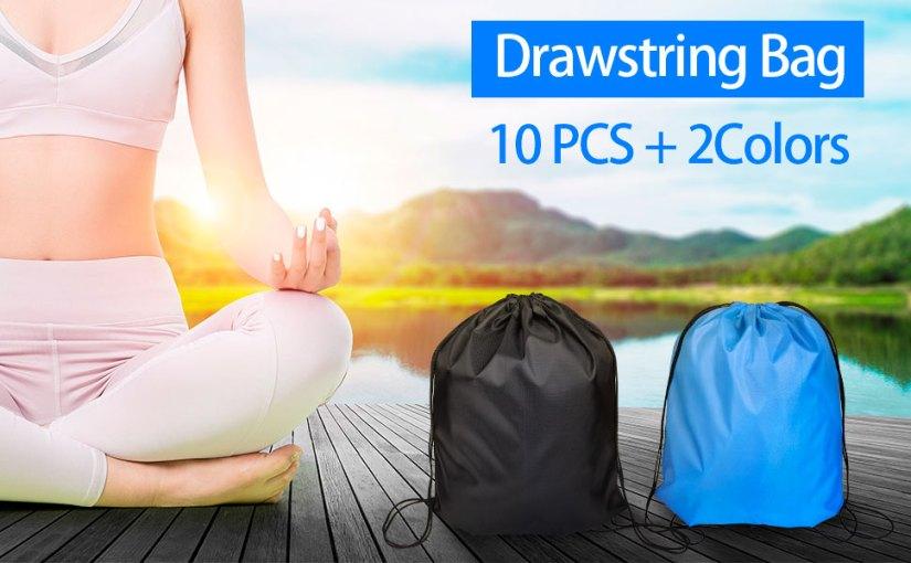 10PCS  Drawstring bags