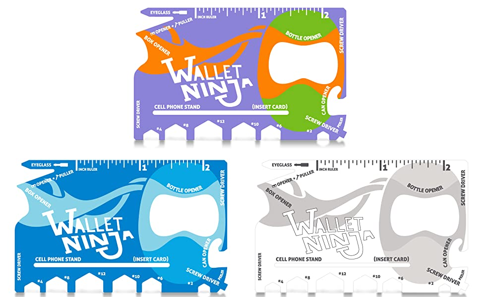 Wallet Ninja Baby Blue Purple White