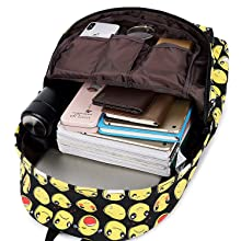 """Roomy main compartment with separate laptop slot holds up to 15.6"""" laptop"""