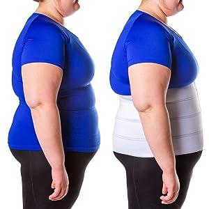 abdominal binder has a slimming effect
