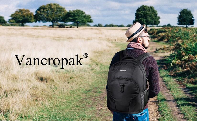 vancropak black School travel 17inch laptop Backpack