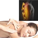 Relieve the stress of a hard day with two sets of massage heads kneading and massaging your back