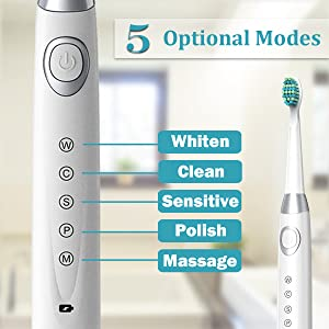 5 modes electric toothbrush