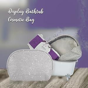 cosmetic bag makeup blush lipstick loofah birthday present gifts for him couple wedding anniversary