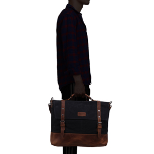 waxed Canvas laptop messenger bag for business men women