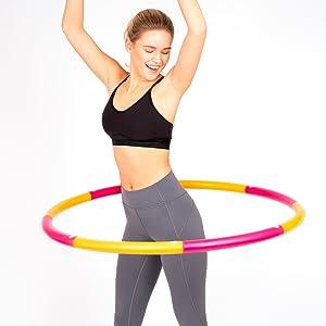 hula hoop cardio workout fat loss bur calories core strength model workout