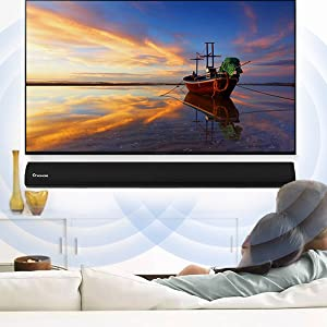 3D surround sound soundbar for TV