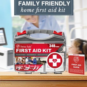 Family friendly home first aid kit