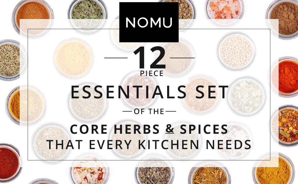 essentials 12 piece core herbs and spices set