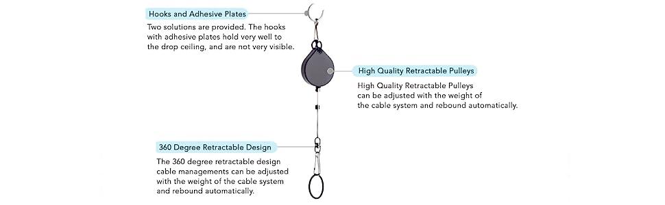 VR Kablo Yönetimi HTC Vive Pro Sanal Gerçeklik / Oculus Rift / PlayStation VR / Microsoft MR