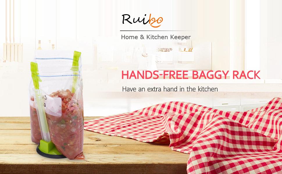 Ruibo Hands-free baggy rack