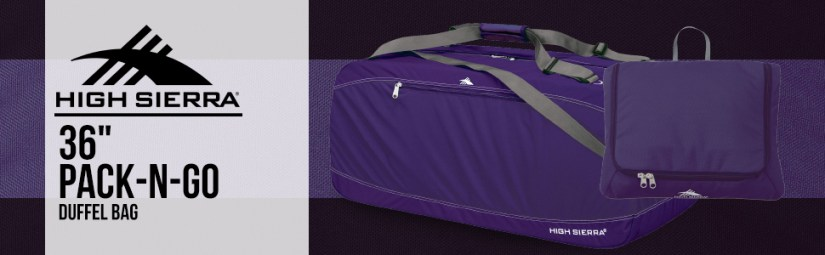 36 in inch duffell sport gym duffel duffle backpacking travel hi highsierra siera carry carryon on