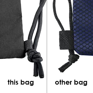 Gymsack drawstring bag with mesh pocket