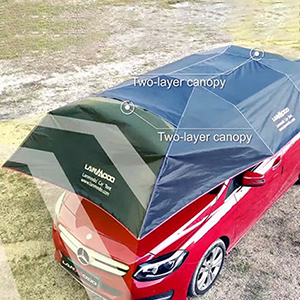 There are 3 windproof designs to make Lanmodo Pro car tent be strong to withstand winds up to 30mph