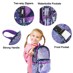 Fashion Purple Sequin Backpacks for Girl/Boy
