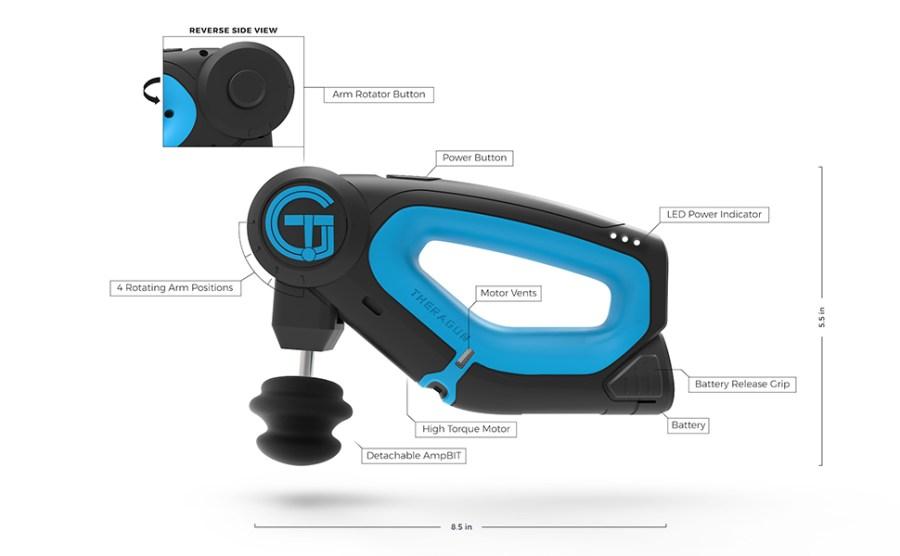 TheraGun G2PRO dispositivo de massagem percussiva para a dor muscular, recuperação muscular e alívio da dor