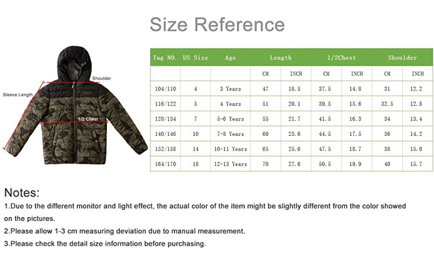 Boys Winter Jackets Coats Camouflage Printed Tactical Outdoor Sports Jackets Hooded Collar Outerwear